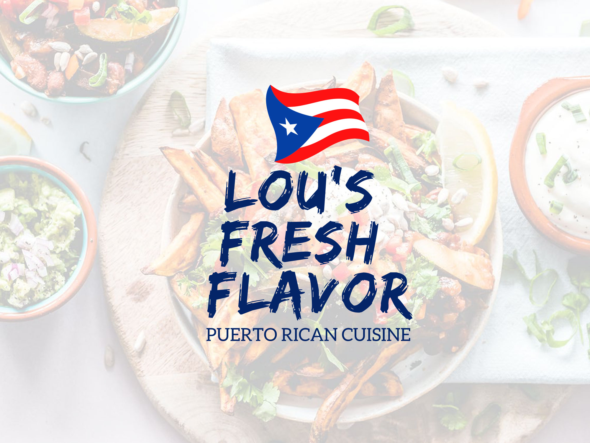 Lou's Fresh Flavor web design and branding project