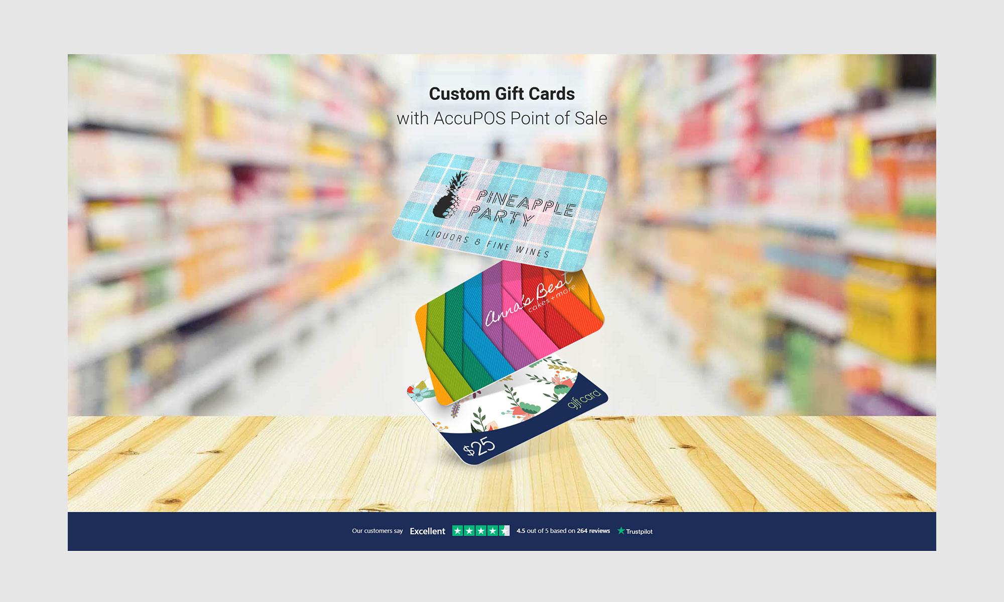 AccuPOS sells custom gift card products for POS customers