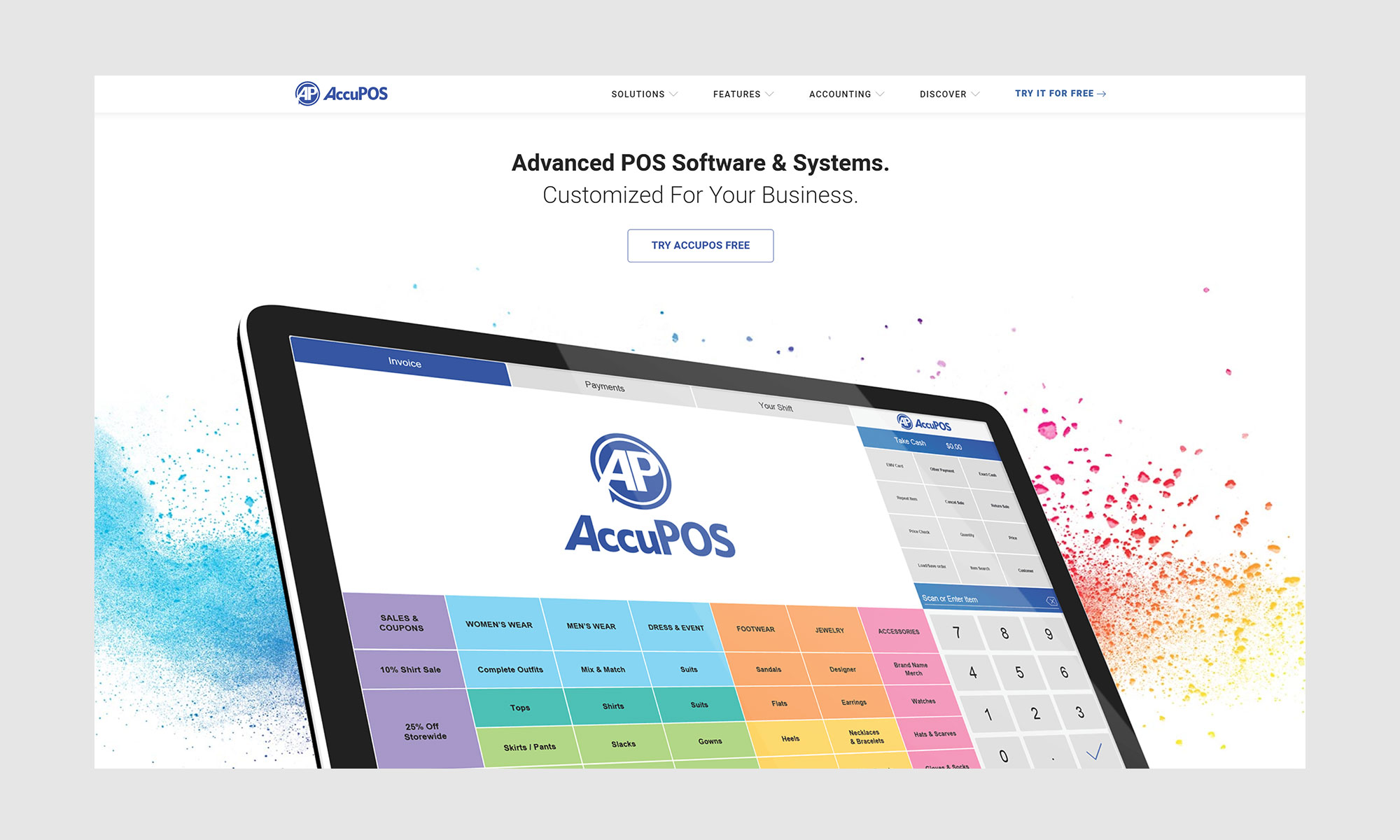 AccuPOS homepage design by CHIMENTO Agency