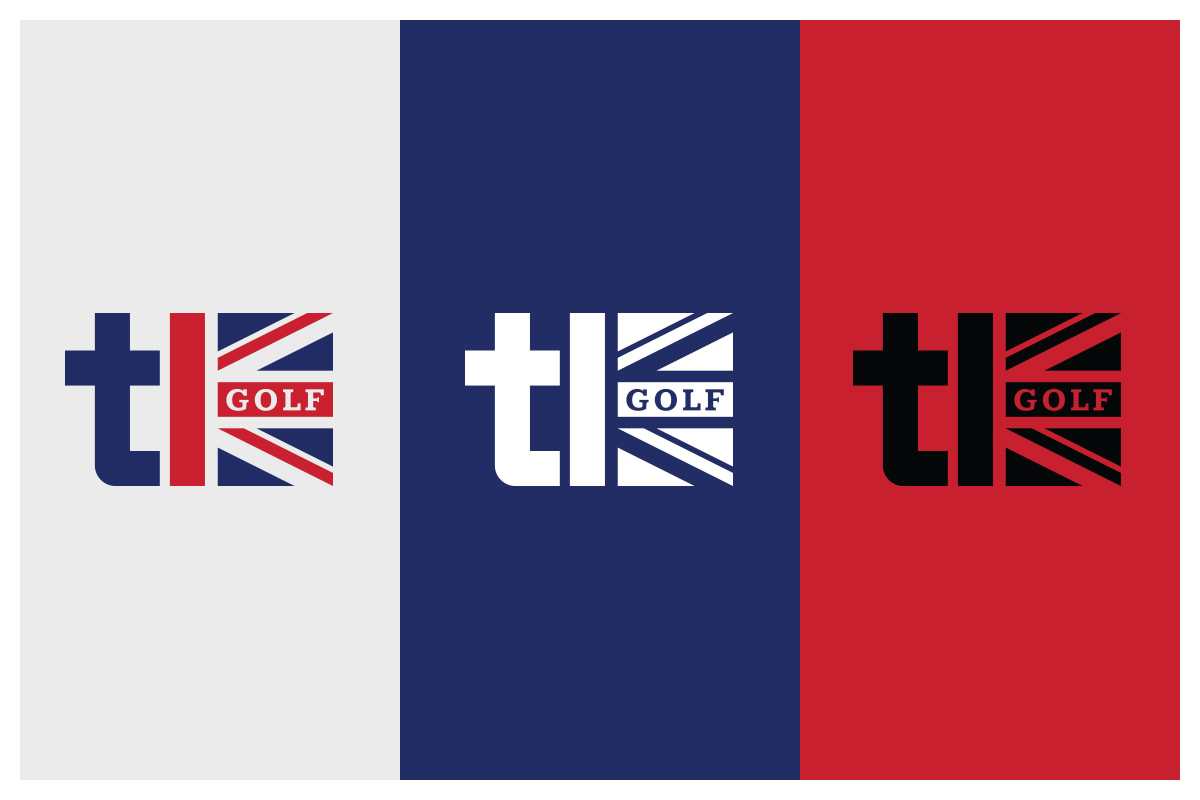 Tony Keeton Golf logo in various color options