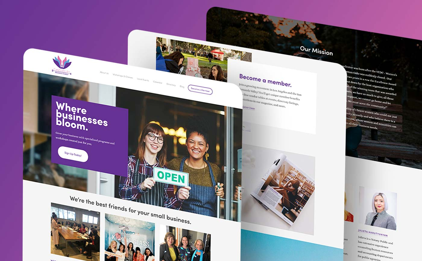 New website design project for Canterbury Business Center by CHIMENTO Agency