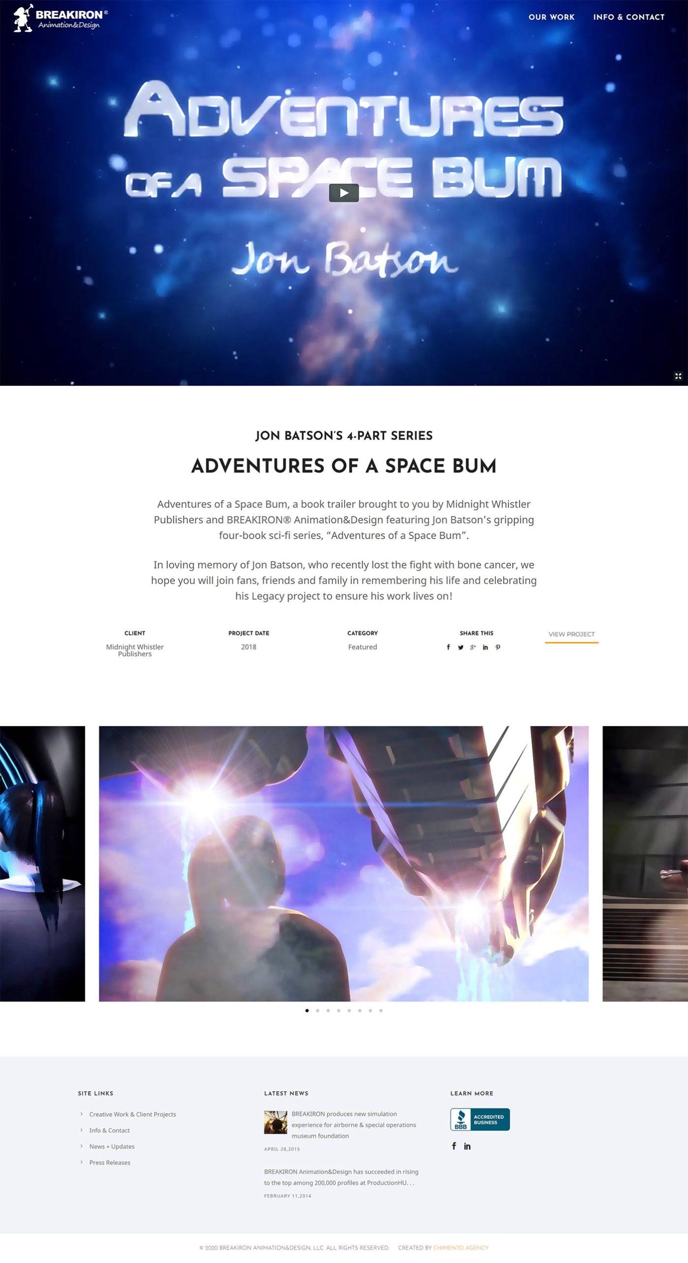 BREAKIRON portolio page design