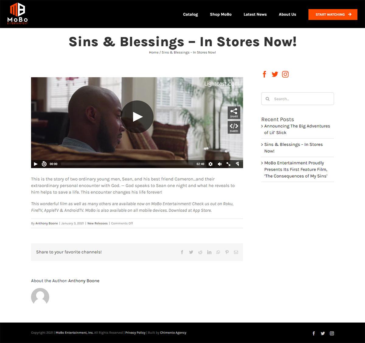 Blog post on MoBo website
