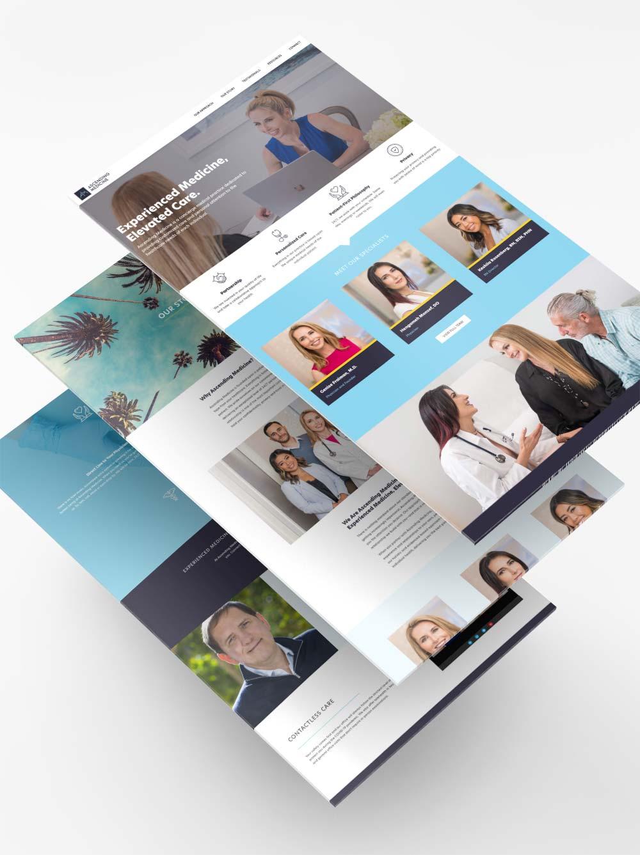 Ascending Medicine branding and web design project