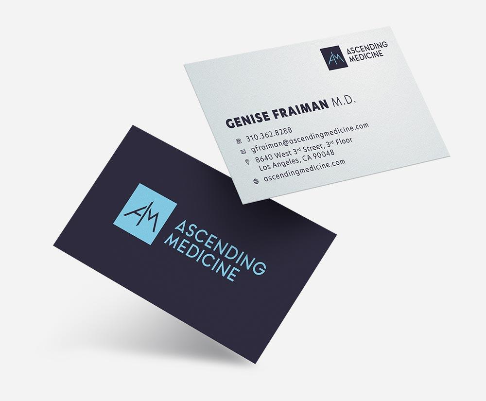 Ascending Medicine business cards